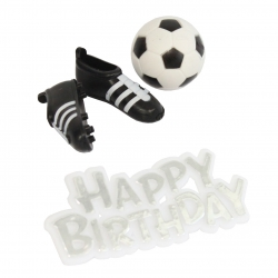 Football & Boots Topper & Happy Birthday Motto