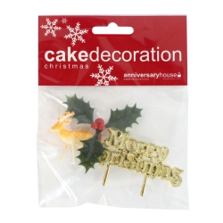 Little Reindeer Cake Decorations - Set of 3