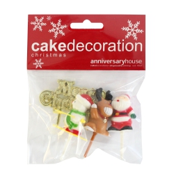 Assorted Christmas Character Kit & Motto - Set of 4