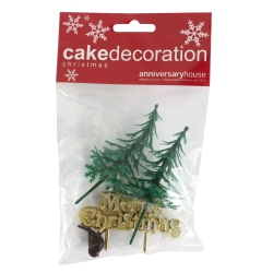 Christmas Cake Decorating Kit - Set of 4