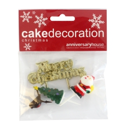 Assorted Merry Christmas Kit & Motto - Set of 4