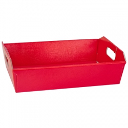 Red Silk Effect Hamper Basket