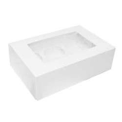 Plain White Cupcake/Muffin Box