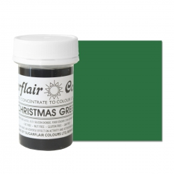 Sugarflair Christmas Green Paste Colour - 25g