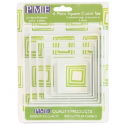 PME Square Cutters - Set Of 6