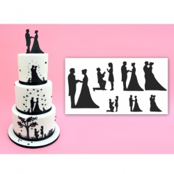 Patchwork Cutters - Wedding Silhouette Cutter Set