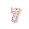 Pink Number Candles