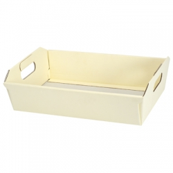 Ivory Silk Hamper Basket