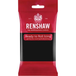 Renshaw Ready to Roll Icing - Jet Black 250g