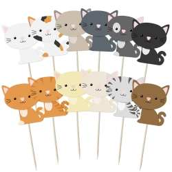 Cute Cats Cupcake Toppers - 12pk