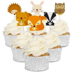Woodland Creature Cupcake Toppers - 12pk