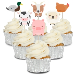 Farmyard Animal Cupcake Toppers - 12pk