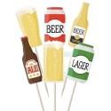 Beer Drinkers Cupcake Toppers - 12pk