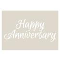 Happy Anniversary Stencil