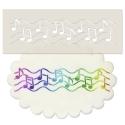 Music Notes Border Stencil