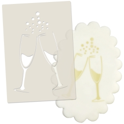 Champagne Glasses Celebration Stencil
