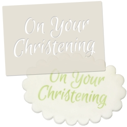 On Your Christening Stencil