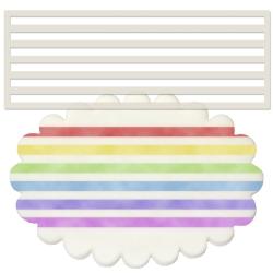 Horizontal Stripes Stencil