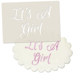 Its A Girl Stencil