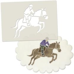 Horse & Rider Cake Topper Stencil