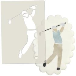Golfer Cake Topper Stencil