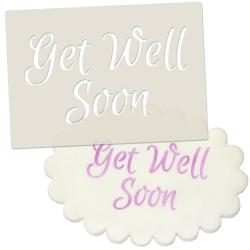 Get Well Soon Stencil