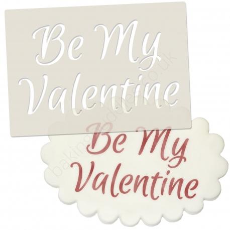 Be My Valentine Stencil