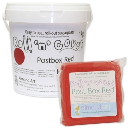 Roll 'n' Cover Postbox Red Sugarpaste