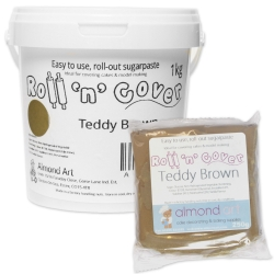 Roll 'n' Cover Teddy Brown Sugarpaste
