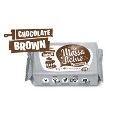 Massa Ticino Chocolate Brown White Sugarpaste - 250g