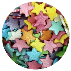 Large Rainbow Glimmer Star Sprinkles 60g
