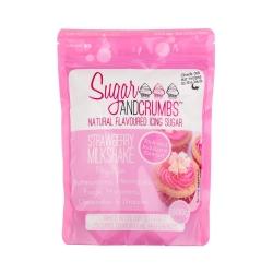 Sugar & Crumbs Strawberry Milkshake Natural Flavoured Icing Sugar 500g