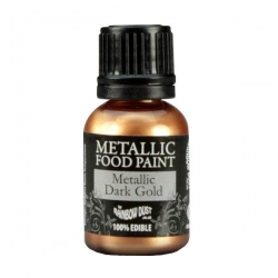 Rainbow Dust Dark Gold Metallic Food Paint 25ml
