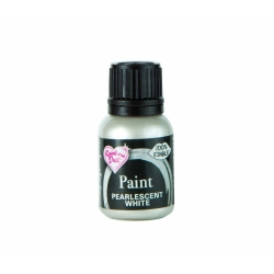 Rainbow Dust Pearlescent White Metallic Food Paint 25ml
