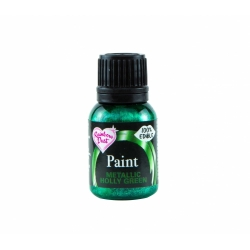 Rainbow Dust Holly Green Metallic Food Paint 25ml