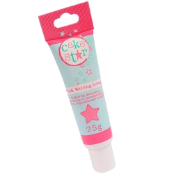 Cake Star Writing Icing Pink 25g Tube