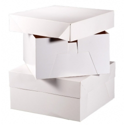 Glossy White Cake Boxes Pack/10