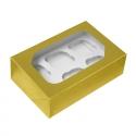 Gold Cupcake Box - Holds 6
