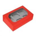 Red Cupcake Box - Holds 6