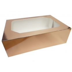 Rose Gold CupCake Box With Insert Hold 6