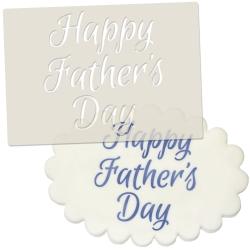 Happy Fathers Day Stencil