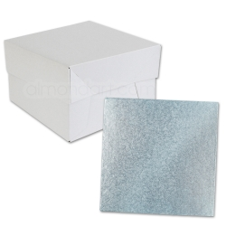 Baby Blue SQUARE Cake Board Drum & Box Combo
