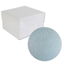 Baby Blue ROUNDCake Board Drum & Box Combo