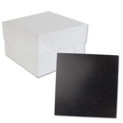 Black SQUARE Cake Board Drum & Box Combo