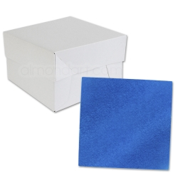 Royal Blue SQUARE Cake Board Drum & Box Combo