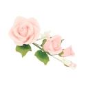 Medium Sugar Rose Flower Spray with Forget Me Not