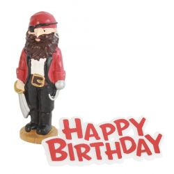 Pirate Resin Topper and Motto