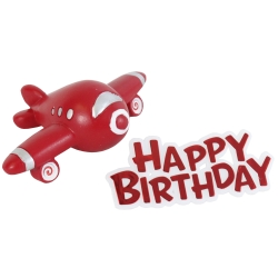 Airplane Resin Topper & Happy Birthday Motto