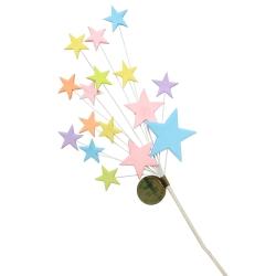 Pastel Multi Coloured Star Spray