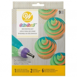 Tri Colour Decorating set 9 Piece